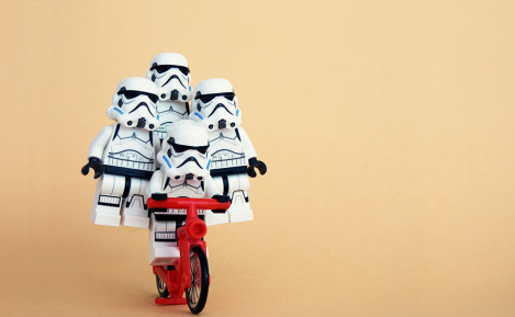 Team of lego storm troopers